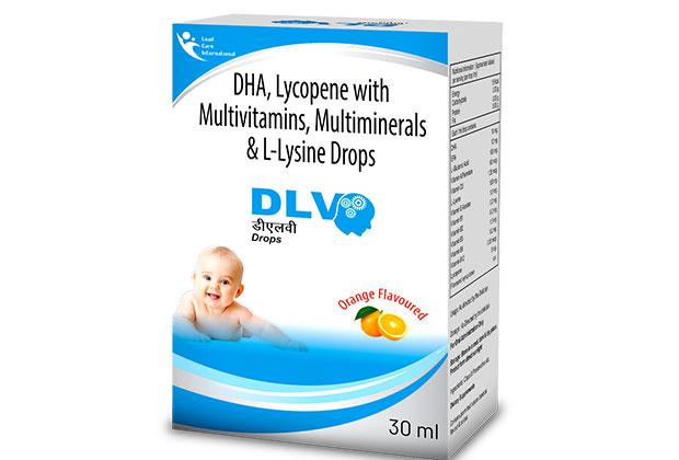 DHA, Lycopene with Multivitamins, Multi minerals & L-Lysine Drops